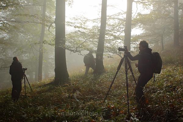 Účastníci workshopu při fotografování