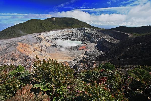 Volcán Poas (2704 m), Kostarika