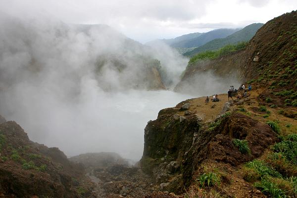 Boiling Lake, ostrov Dominika, východní Karobik