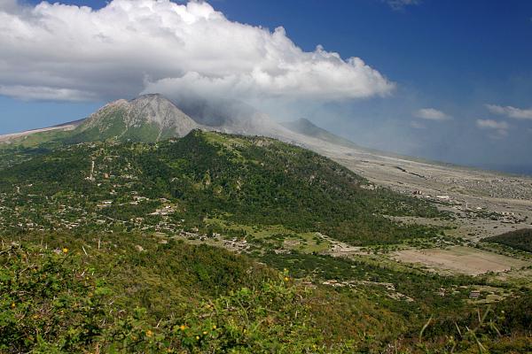 Soufriere, ostrov Montserrat, východní Karibik